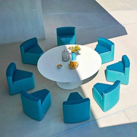 Varná deska Varaschin Big In & Out + 8 moderních designových křesel