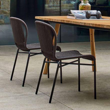 Varaschin Cricket venkovní židle moderní tkaná ručně, 2 ks