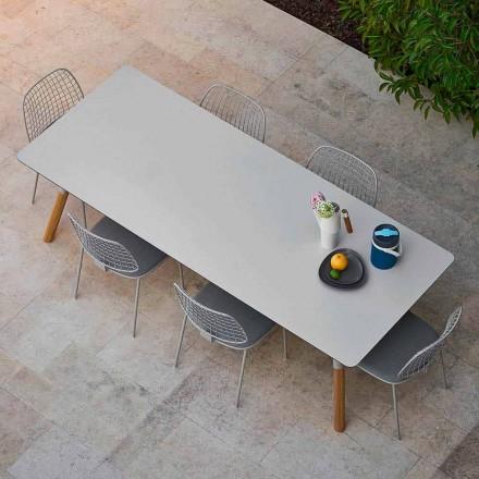 Varaschin Link zahrada prodloužení stůl s teakového nohách, H75 cm