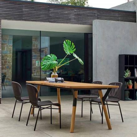 Varaschin Odkaz zahradní stůl s teakového dřeva nohou, H 65 cm