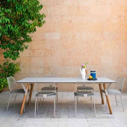 Varaschin Odkaz zahradní stůl s teakového dřeva nohou, H 75 cm