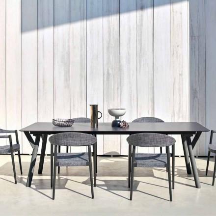Varaschin Link Pevné jídelní stůl zahradu nebo vnitřní H 75 cm