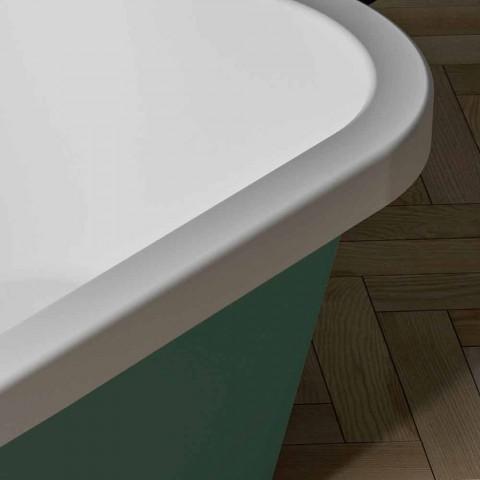 Lesklá / neprůhledná dvoubarevná vana, Volně stojící moderní - Margex