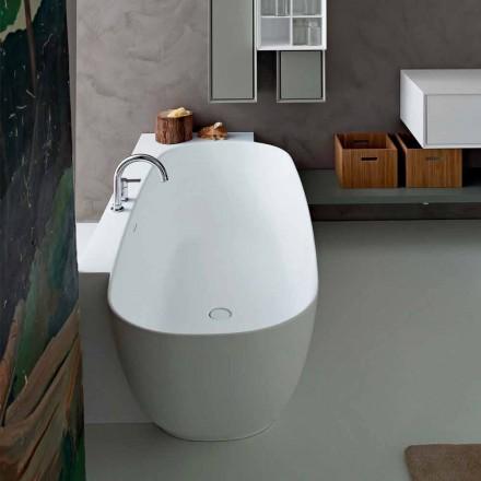 Volně stojící vana v moderním stylu s bílým designem - Lipperiavas1