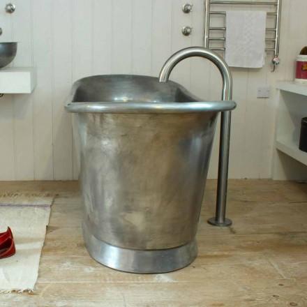 Vana volně stojící měď koupelna skončil v bílé litiny Julia