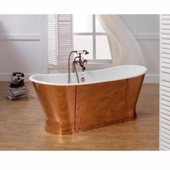 Vana pozlacené litiny koupel externě Henry měď