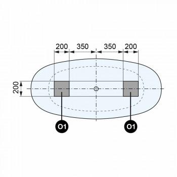 Volný Stálý Design Tub, Solid Surface Design - Podívejte