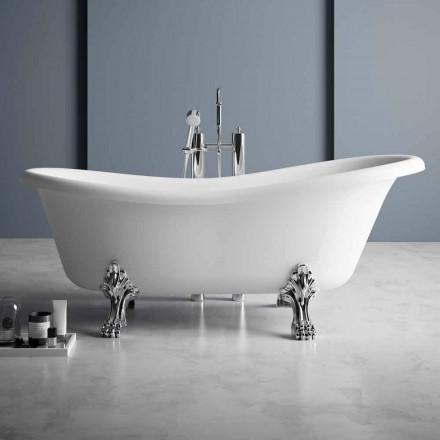 Volně stojící vana, viktoriánský design v pevném povrchu - déšť