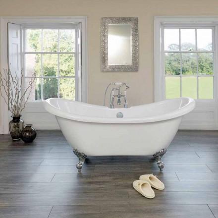 Volně stojící vana bílá moderní design Akryl Spring 1750x720mm