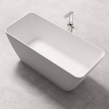 Moderní design Volně stojící vana lesklá nebo matná bílá - tvář