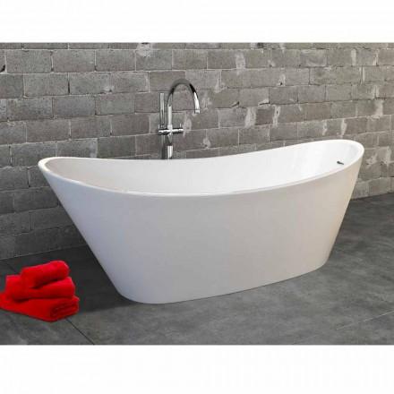 Volně stojící vana v akrylové bílá moderní konstrukční Nataly, 1700x745mm