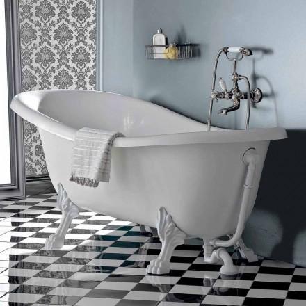 Volně stojící vana v akryl ve stylu vintage, vyrobené v Itálii - Tabea