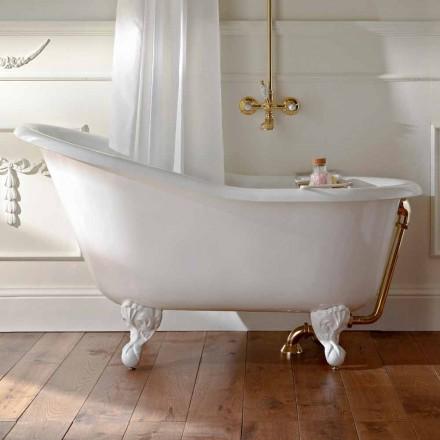 Vintage volně stojící vana v bílé litině vyrobené v Itálii - Paulina