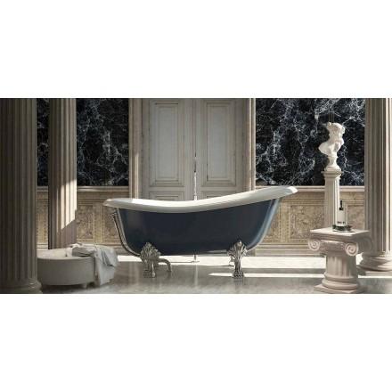 Klasický design volně stojící modrá pryskyřičná vana, Fregona vyrobená v Itálii