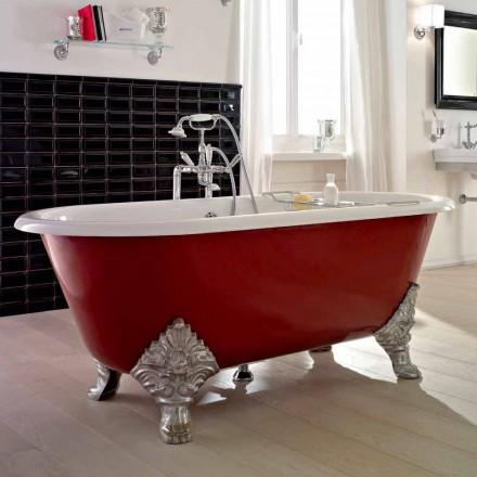 Vintage volně stojící vana s litinovými nohami, vyrobené v Itálii - Naike