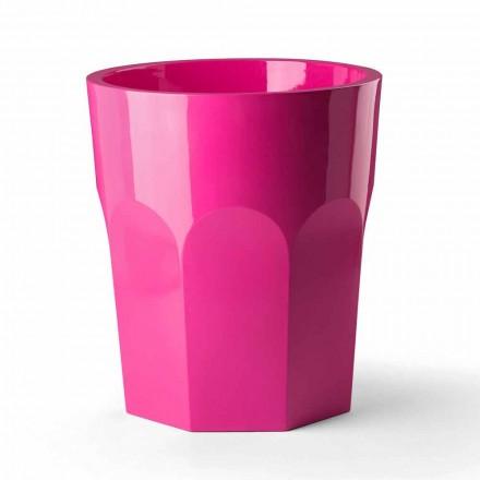 Vysoká dekorativní váza s tvarem skla z polyethylenu vyrobená v Itálii - Pucca