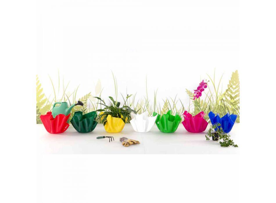 Bílá váza indoor / outdoor návrh dappreggiato Pina, made in Italy