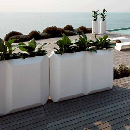 Bílá vnitřní nebo venkovní plastová váza o 3 velikostech, 2 kusy - Gem od Myyour