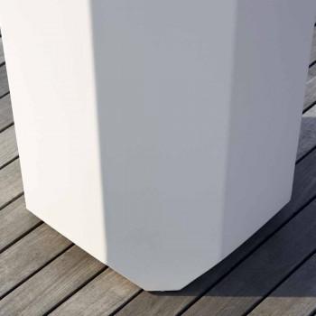 Bílá vnitřní nebo venkovní váza z plastu o 3 velikostech - Gem od Myyour
