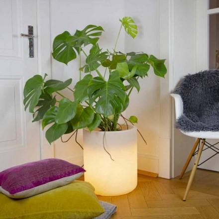 Váza se solárním osvětlením nebo LED designem pro vnitřní nebo venkovní použití - Cilindrostar