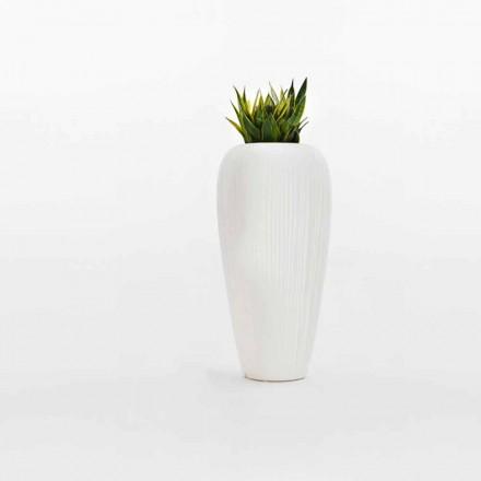 2 kusy bílé, béžové nebo šedé polyethylenové vázy - kůže od společnosti Myyour