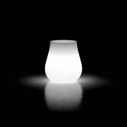 Venkovní svítící designová váza z polyethylenu vyrobená v Itálii - Monita