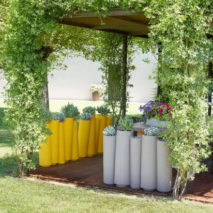 Venkovní dekorativní váza Slide Bamboo moderní design vyrobený v Itálii