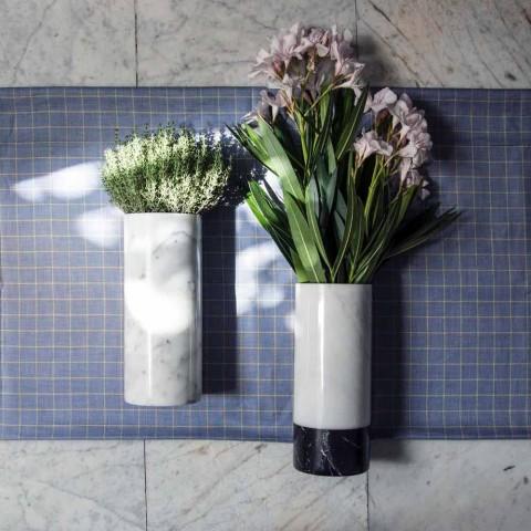 Bílá Carrara Marble Dekorativní Váza Vyrobeno v Itálii Design - Nevea