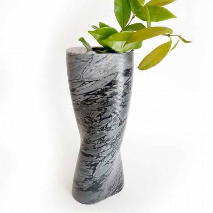Moderní dekorativní váza v mramoru Bardiglio Fiorito vyrobená v Itálii - Dido