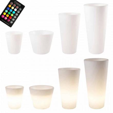 Vícebarevný nebo solární LED osvětlený hrnec pro zahradu nebo obývací pokoj - Vasostar