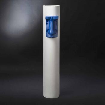 Bílá keramická váza s barevnou vložkou ručně vyráběnou v Itálii - Monte