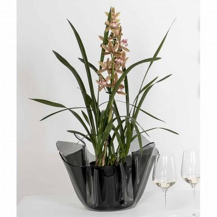 Váza vnitřní / vnější přehozený kouřové Pina, moderní design