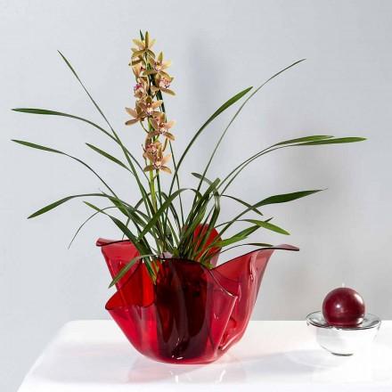 Váza interní / externí víceúčelové Pina rosso, moderní design made in Italy