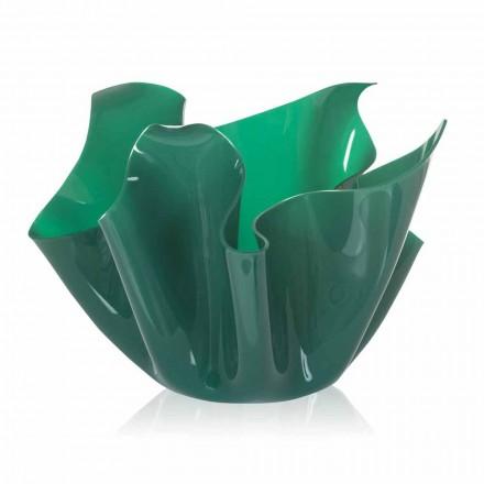 Váza vnitřní / venkovní víceúčelové zelené Pina, moderní design made in Italy