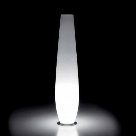 Venkovní světelná váza s LED světlem z polyethylenu vyrobená v Itálii - Nadai