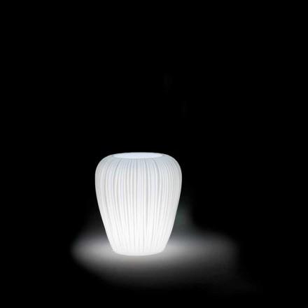 Světelná venkovní váza s moderním designem z polyethylenu, 2 kusy - kůže od Myyour