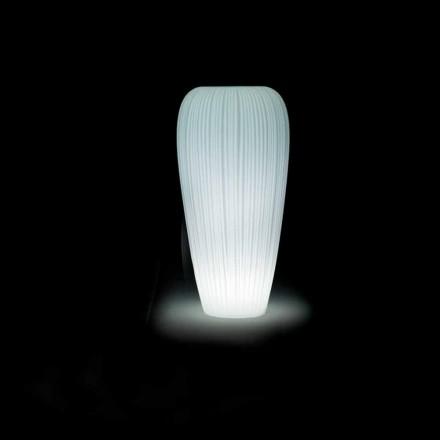 Světlá venkovní váza v moderním designu z polyethylenu - kůže od Myyour