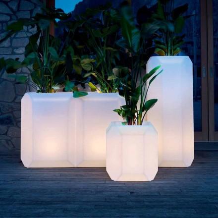 Světelná váza z plastu pro venkovní nebo vnitřní použití, 3 rozměry - Gem od Myyour