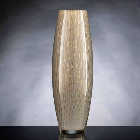 Barevná foukaná Murano skleněná okrasná váza vyrobená v Itálii - Asper