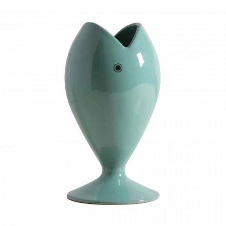 Moderní řemeslná keramická váza vyrobená v Itálii - pražma