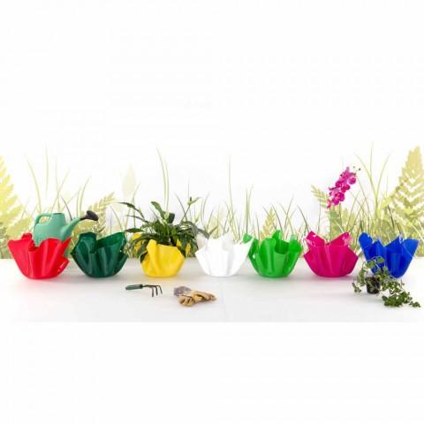 Červená váza indoor / outdoor návrh dappreggiato Pina, made in Italy