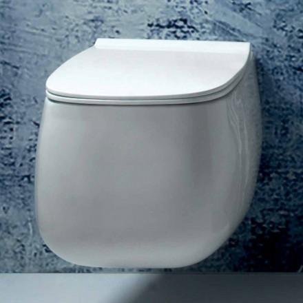 Moderní design bílá keramická suspendovaná váza Gaiola vyrobená v Itálii