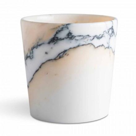Zaoblená váza v Paonazzo Marble Vyrobeno v Itálii, 5 kusů - Murlino
