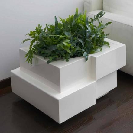 Dekorativní váza na kolečkách pro exteriér / interiér Slide Cubic Yo, vyrobená v Itálii
