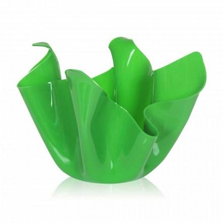 Zelená váza indoor / outdoor konstrukce přehozené Pina, made in Italy