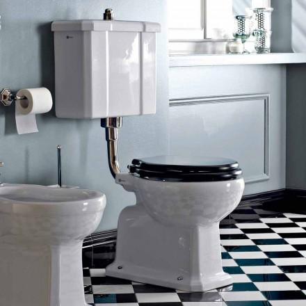 WC na podlahu s keramickou kazetou a vyrobené v Itálii Black Seat - Marwa