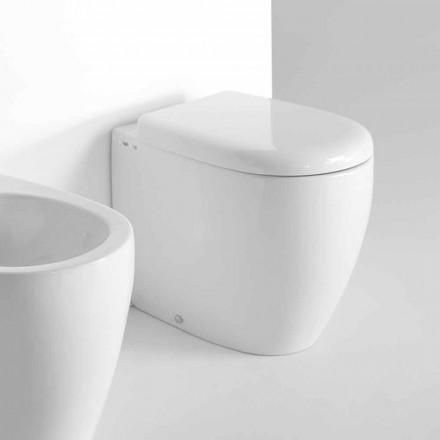 Moderní designové stojací WC v barevné keramice Vyrobeno v Itálii - Lauretta