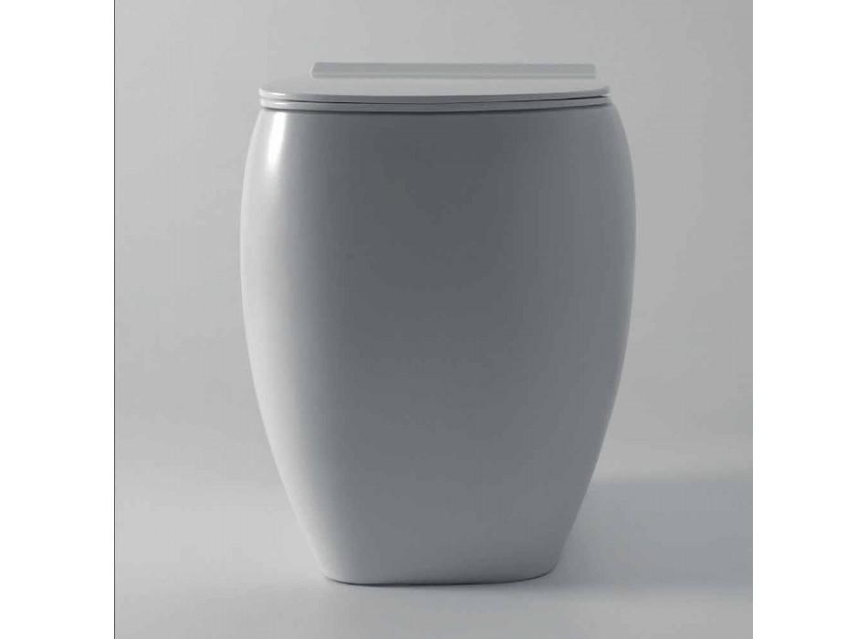 Bílá keramická WC váza s moderním designem Gais, vyrobená v Itálii