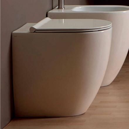 Váza WC v bílé keramické moderní design bot Square H50 vrtaných