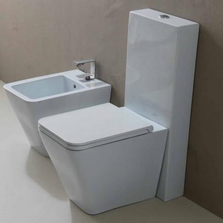 Váza WC v bílé keramické moderního designu Sun náměstí, made in Italy